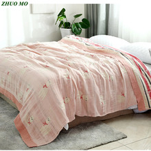 Cartoon alpaca cotton Throw Travel Blanket pink Towel Sofa Air Condition quilt blanket Queen size sheets Mattress for Bed cover