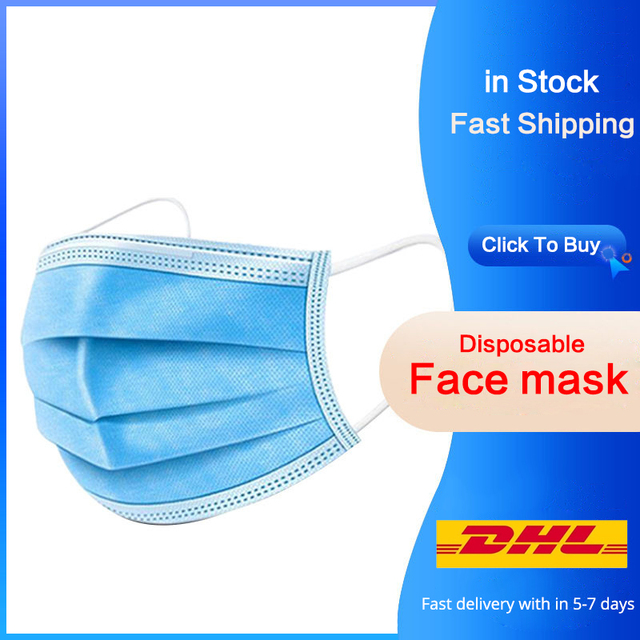 Disposable Face Mask Men Women 3Ply filter Face Masks Features As fpp2 kf94 PM2.5 Anti Fog Dust