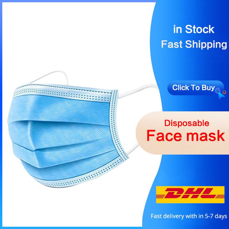 Disposable Face Mask Men Women Anti Virus 3Ply Filter Surgical Masks Features As Fpp2 Kf94 PM2.5 Anti Fog Dust