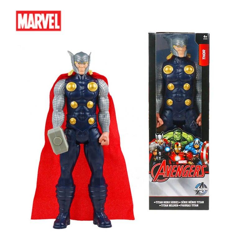 Avengers figurine 30cm Thor Titan héros série PVC poupée Marvel jouet nouvel an cadeau de noël pour les enfants