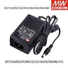 Mean Well GST25A12-P1J GST25A05-P1J 25W Adapter 5V 7,5 V 9V 12V 15V 18V 24V 28V 48V Universal Laptop Ladegerät Netzteil