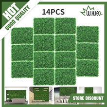 14pcs 40x60cm Artificial Boxwood Panels Greenery Fence Wall Decorative Hedge Plant for Outdoor Indoor Garden Fence Backyard
