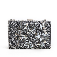 Solid Glitter Evening Bags Clutch Bag Sequined Wedding Clutches Hard-Surface Fashion Party Banquet Shoulder Flap Shinny