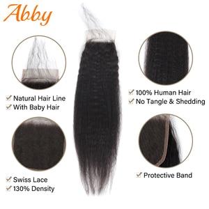 Image 5 - Яки прямые человеческие волосы пряди с закрытием 100% человеческих волос для Для женщин бразильские волосы, волнистые пряди 4x4 застежка пряди для наращивания волос