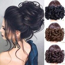 1 шт., синтетические волосы, большой пучок, шиньон, два пластиковых гребня, заколки в шиньон, шиньон для невесты
