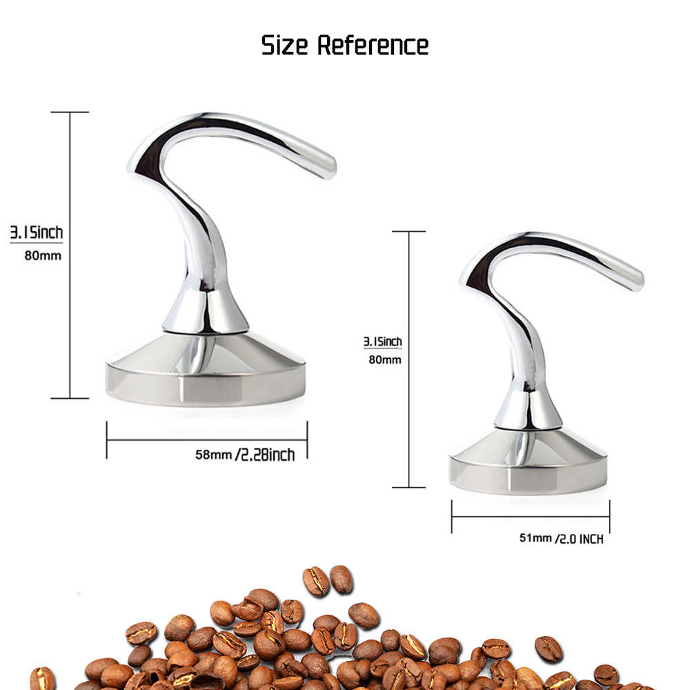 ใหม่สมาร์ทกาแฟTamperความดัน 58 มม.51 มม.RสแตนเลสกาแฟTamper Barista Espresso Tamperฐานกาแฟbean Press