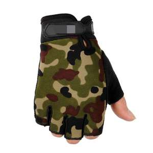 Tactical Half-finger Gloves Non-slip Army Fan Male Fitness Fighting Gloves Riding Gloves Practical Outdoor Student Gifts