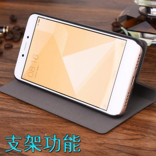 Xiaomi Redmi 5A Case Luxury Slim Style Flip PU Leather PC Case For Xiaomi Redmi Note 5A offical Case in Flip Cases from Cellphones Telecommunications
