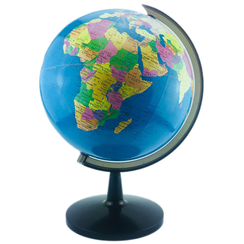 World Globe, 12.6 Inch Globe Of Perfect Spinning Globe For Kids, Geography Students, Teachers, Easy Rotating Swivel