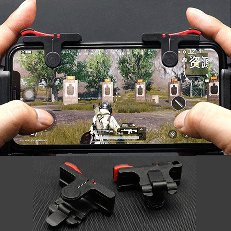 2Pcs PUBG Moible Phone Controller Gamepad Free Fire L1 R1 Trigger Game Pad Grip Joystick for iPhone Android Accessories With Box|Joysticks|   - AliExpress