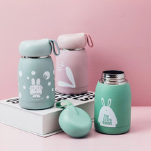 320ML Household Portable Cute Practical Keep Warm Stainless Steel Cartoon Rabbit Pattern Thermos Cup