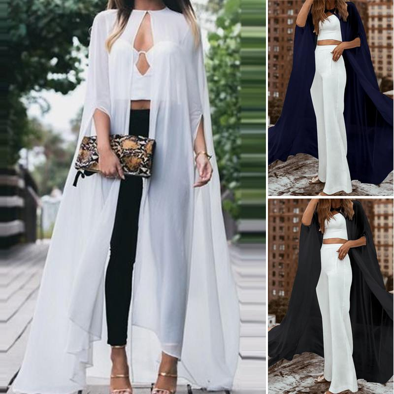 2020 Summer Open Front Floor Length Cardigans ZANZEA Women Beach Cover Up Casual Solid Long Shirts Baggy Blouses Sexy Tops 5XL