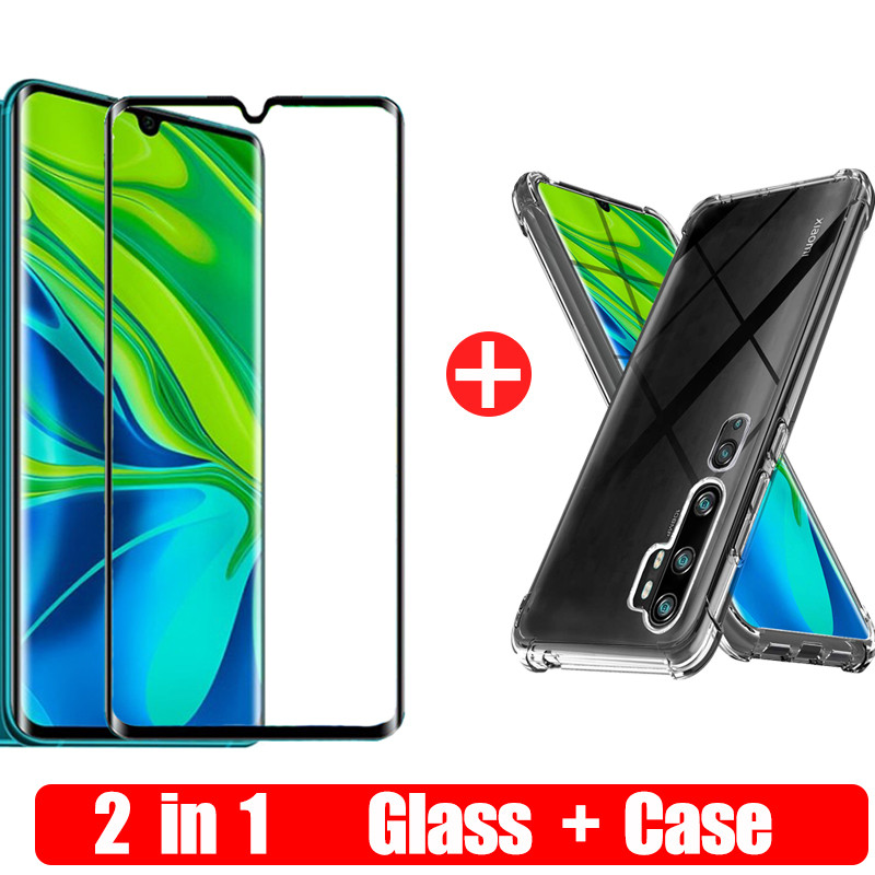 Tempered Glass For Xiaomi <font><b>Redmi</b></font> <font><b>Note</b></font> 10 CC9 Pro 10Pro CC9Pro Transparent Silicone <font><b>TPU</b></font> <font><b>Case</b></font> For <font><b>Redmi</b></font> Note10 Pro Screen Protector image