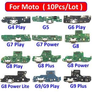 Image 1 - 10 adet yuva konnektörü USB şarj aleti şarj kurulu portu Flex kablo Moto G5 G4 G6 G7 G8 G9 oyun artı güç lite One hiper makro