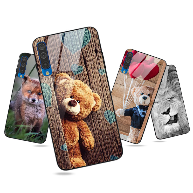 for Samsung Galaxy A10 A20 A30 A40 A50 A70 A3 A5 A7 A6 A8 A9 Plus 2018 A20E A20S A30S A50S A10S Case Cover Bright Glossy Case
