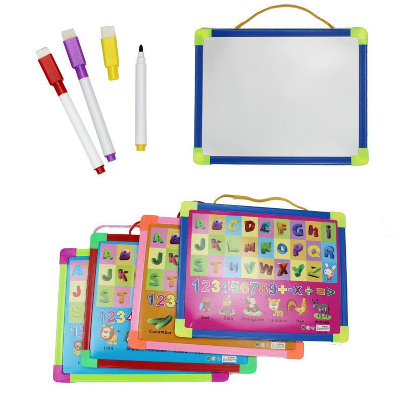 Plastic Frame WordPad Only CHILDREN'S Drawing Board Graffiti Double-Sided Child Drawing Kit Cognitive Board With Numbers