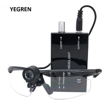LED Dental Loupe Headlight Ultralight Eyeglasses Adjustable Rechargeable Surgical Spotlight f/ Medical Research Dentist Surgical