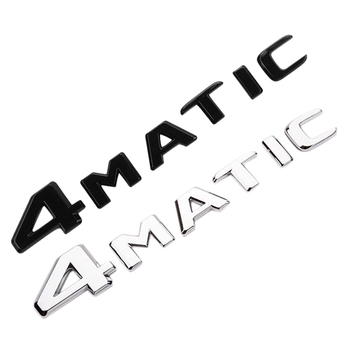 4MATIC Auto Trunk Door Fender Bumper Badge Decal Emblem Adhesive Tape Sticker Replacement for Mercedes-Benz image