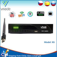 Newest DVB-T2 digital receiver supports FTA H.265/ HEVC DVB-T h265 hevc dvb t2 hot sale Europe Russia Czech Republic Germany