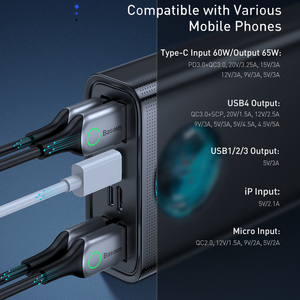 Image 3 - Baseus 전원 은행 30000 미리 암 페르 하우어 65 와트 PD3.0 빠른 충전 3.0 FCP SCP 휴대용 외부 배터리 여행 충전기 전화 노트북 태블릿