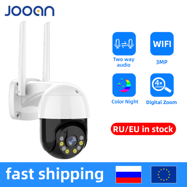 3MP PTZ WIFI IP Camera Outdoor 4X Digital Zoom Night Full Color Wireless H.265 P2P Security CCTV Camera Two Way Speak Audio 1