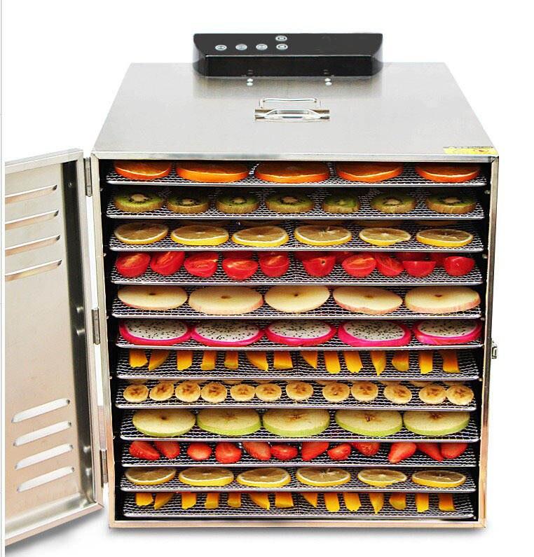 12 слоев осушитель воздуха Электрический осушитель фрукты сушилка Нержавеющаясталь Еда растительное мясо Pet сушильная машина 220v 110V