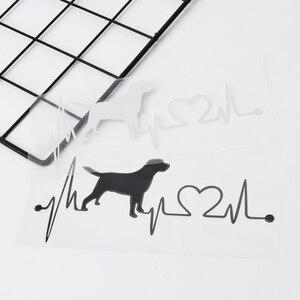 Image 1 - Labrador Retriever Heartbeat Love Decal Car Sticker Creative Auto Accessories