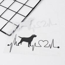 Labrador Retriever Herzschlag Liebe Aufkleber Auto Aufkleber Kreative Auto Zubehör