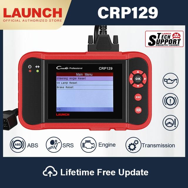 LAUNCH CRP129 OBD2 الماسح الضوئي سيارة أداة تشخيص ABS وسادة هوائية الماسح الضوئي السيارات التشخيص autoالماسح الضوئي الفرامل SAS إعادة تعيين النفط