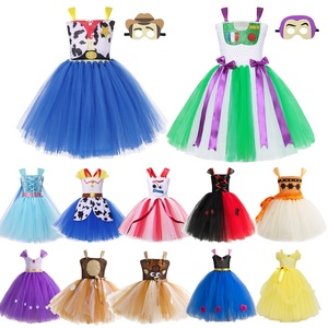 Girls Princess Tutu Dress Story of Toy Kids Woody Cowgirl Superhero Wonder Woman Tulle Dress Girl Halloween Party Fancy Costume(China)