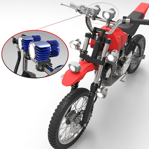 Image 4 - CNSUNNYLIGHT אופנוע LED פנס זרקור 18W 2700Lm סופר בהיר לבן Moto ערפל DRL פנס ציד הנהיגה