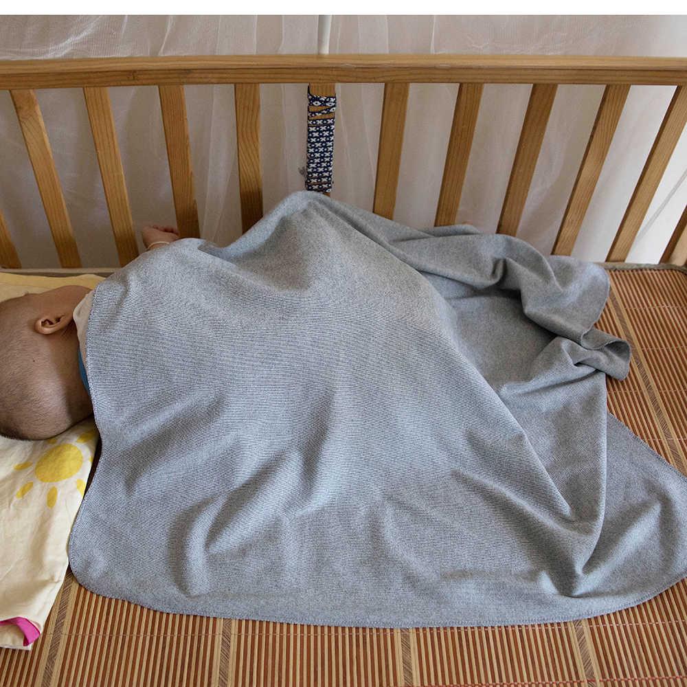 Geebro ทารกแรกเกิดฤดูใบไม้ร่วงฤดูหนาวผ้าห่มเด็ก 13 ซม.จริงขน PomPom ผ้าฝ้ายนุ่มทารกแฟชั่น Bedding Wrap