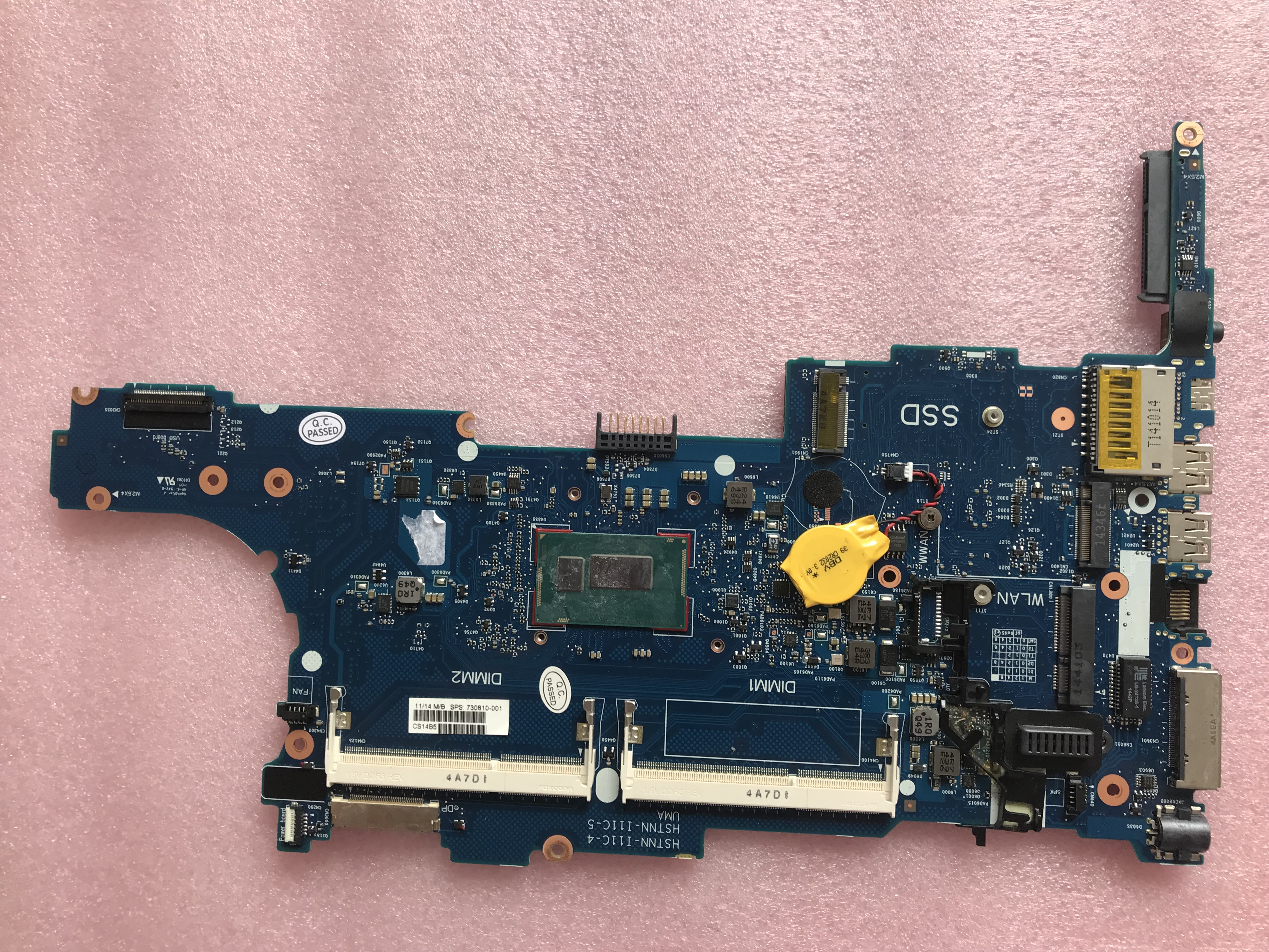 730810-601 730810-001 For HP 840 G1 Laptop motherboard <font><b>I7</b></font>-<font><b>4600U</b></font> CPU notebook pc mainboard test ok image