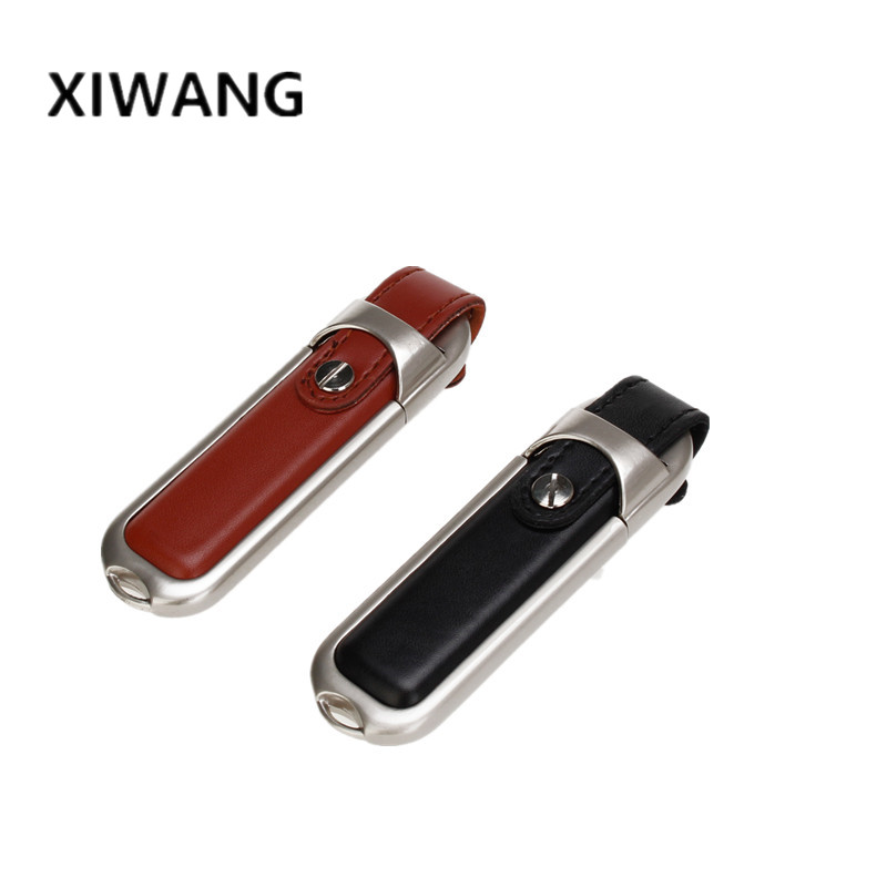 Image 3 - New portable USB flash drive 128GB 64GB 32GB 16GB 8GB leather pendrive pen drive flash memory stick u disk gift free shipping-in USB Flash Drives from Computer & Office