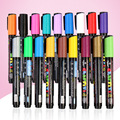 Metallic Marker 12/24 Colors to Choose 1.8-2.5mm 3.0mm Extra Fine Point Paint Marker Non-toxic Permanent Marker Pen DIY Art su
