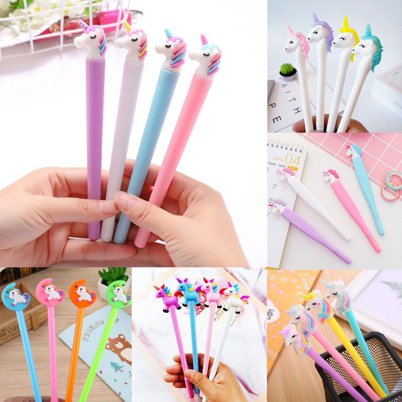 1pc Unicorn Gel Pens Kawaii Neutral Pen Cute For School Office Writing Gifts Korean Stationery Promotional