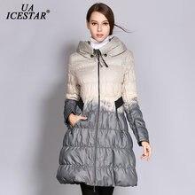 Брендовая модная длинная прямая зимняя пуховая куртка uaicestar