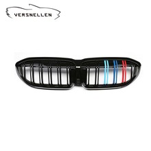 Front Kidney grill For BMW new 3 series G20 G28 2019 Racing Grills carbon fiber Front Kidney Grille double line