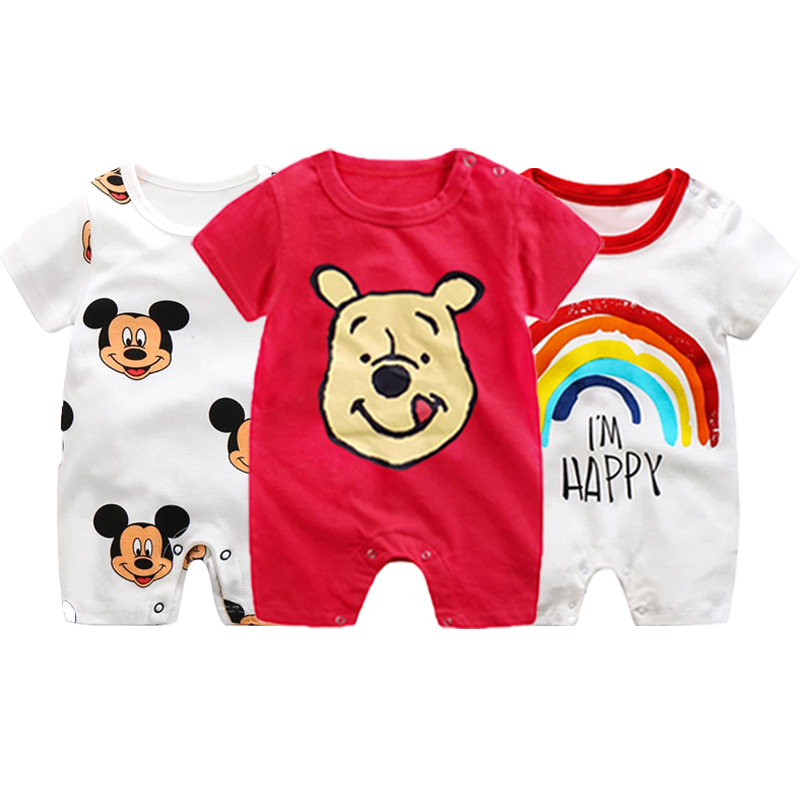 Mickey Baby Rompers Cartoon Baby Boy Clothes Children Jumpsuit Boys Summer Onesie Infant Baby Girls Clothes Disney Newborn Bebes