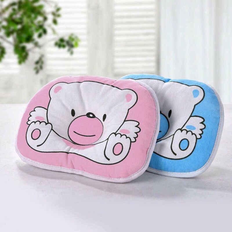 Memória Espuma Travesseiro Anti-Roll Bebê Recém-nascido do bebê Urso Dos Desenhos Animados Almofada Anti Síndrome de Cabeça Chata para Berço Berço Cama apoio do pescoço
