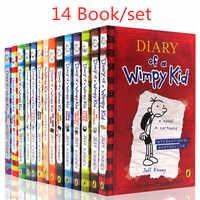14 livros/set Diary of A Wimpy Kid Quadrinhos Set Livro Livros de Aprendizagem de Inglês para Crianças Crianças História livros Em Inglês