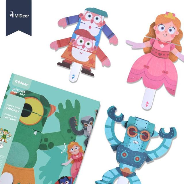 Paper 3D Origami Craft Kit Elf Animal Frog 8 Character Patterns Kids Early Learning Educational Toys For Children Kindergarten 3