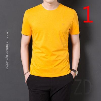 2020t-shirt men's short-sleeved trend summer Korean version of handsome clothes youth Slim half sleeve