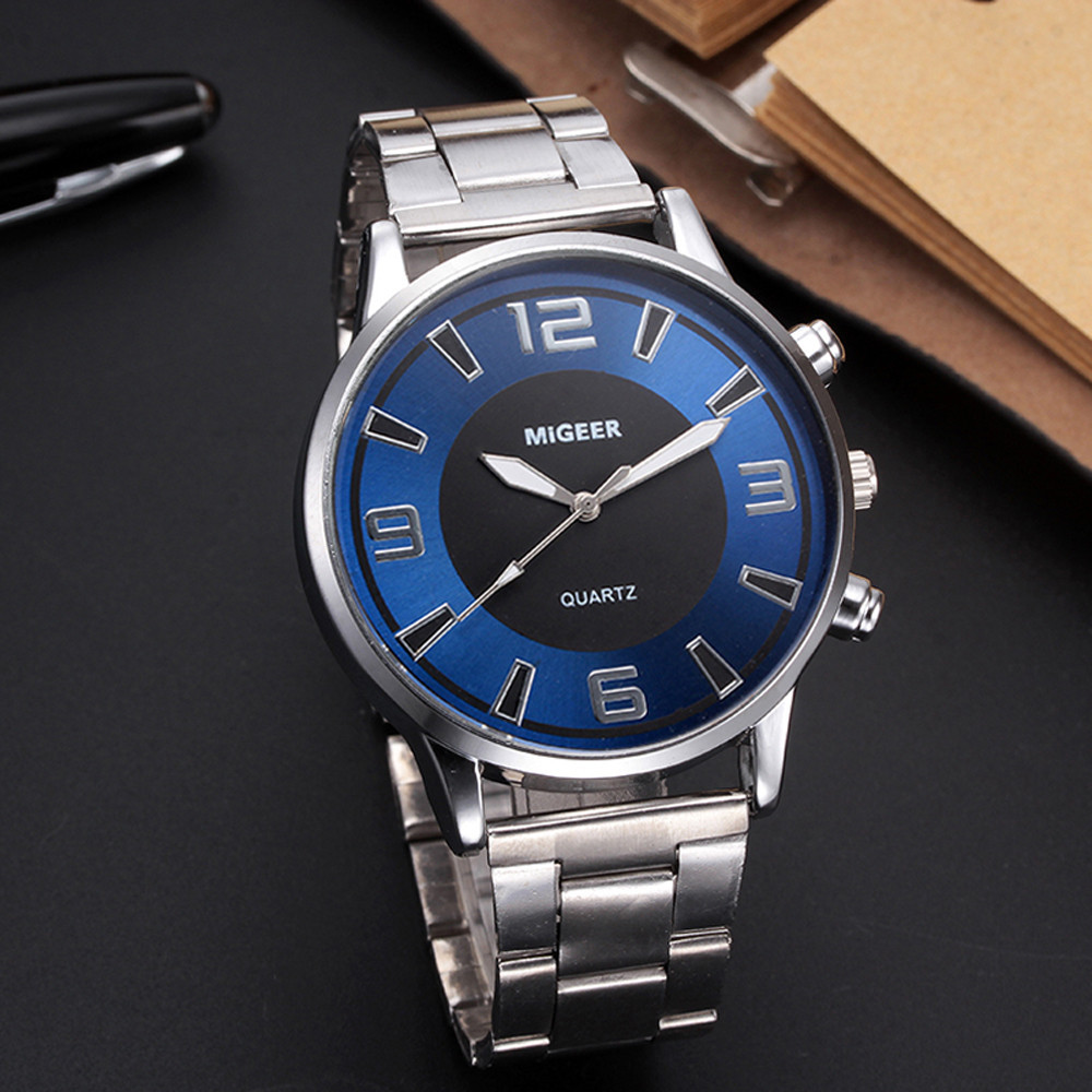 Man Watches Fashion Luxury Stylish Design Stainless Steel Analog Alloy Quartz Wrist Watch relojes hombre 2019 horloges mannen