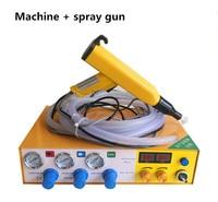 Portable Powder Paint Experiment System Electrostatic Powder Coating machine with electrostatic powder coating test gun