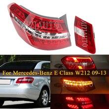 Led Rear Tail Light For Mercedes-Benz E Class W212 2009-2013 Sedan Rear Bumper Brake Light Tail Stop Turn signal Warning Lamp ref led rear stop brake light 3rd third turn signal lamp for mercedes benz w211 e class e55 e320 e500 e350 2003 2009 p512
