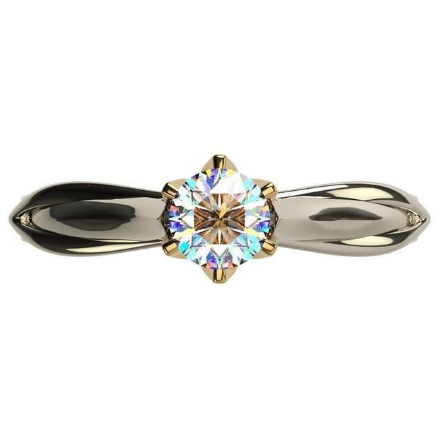 18K Multi Gold Ring for Women Natural 1 Carat Diamond with Diamond Jewelry Anillos De Bizuteria Anillos Mujer Gemstone Rings Box 2