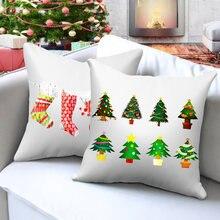 Nanacoba Рождественский подарок чехол для подушки мультфильм