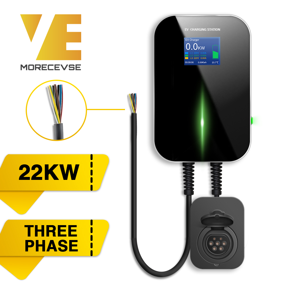 32A 3Phase EV Charger Electric Vehicle Charging Station Type 2 Socket IEC 62196 2 for Audi Mercedes Benz MINI Cooper Volkswagen|Chargers & Service Equipment| |  - title=