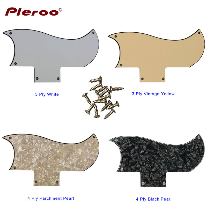 Pleroo Custom Guitar Parts - For US Gib 61 SG 5 Screw Holes Soporte Electric Guitar Pickguard Scratch Plate